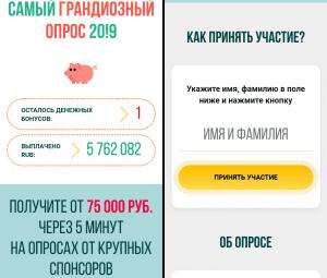 Интернет опрос за вознаграждение в инстаграм