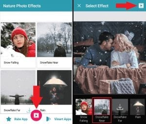 снег на фото в инстаграм