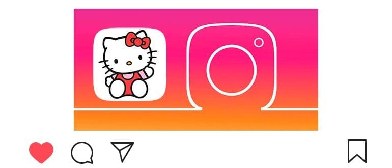 Маска с Хелло Китти в Инстаграме